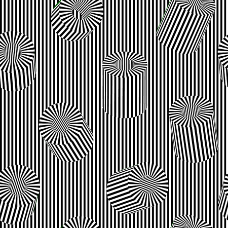 Vector tube op art pattern. Optical illusion abstract background