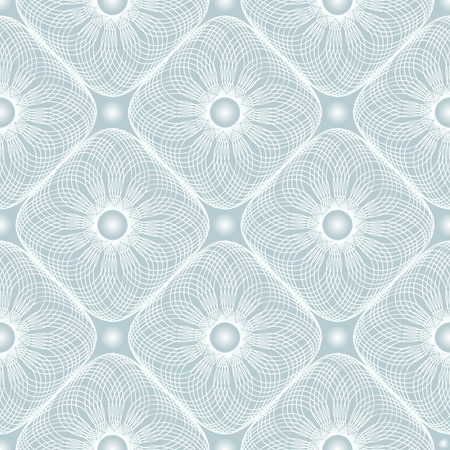 Abstract vector seamless moire pattern with lines. Spirograph geometric repeating texture.