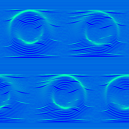 Round seamless moire pattern with lines.