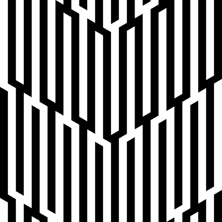 Abstract vector seamless op art pattern. Pop art, graphic ornament. Optical illusion