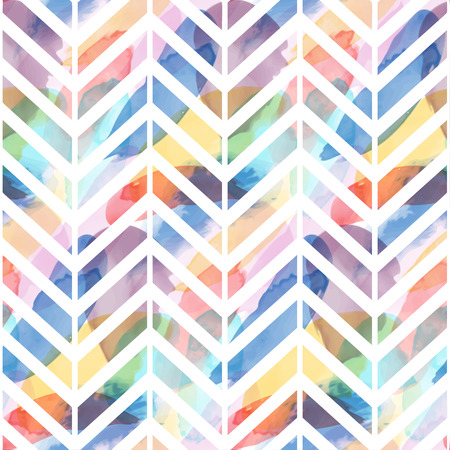 Seamless pattern of watercolor hand painting stains. Vector illustration created with custom brushes, not auto-tracing. Çizim