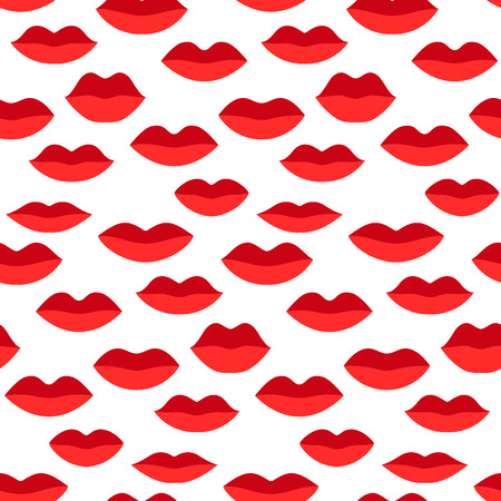 Seamless vector pattern, colorful sexy lips. Repeats texture of textile, wall, fabric, gift paper. Concept for Valentines Day Stock Photo