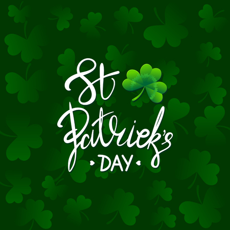 Happy Saint Patricks Day Vector illustration. Irish celebration background. Stock Photo