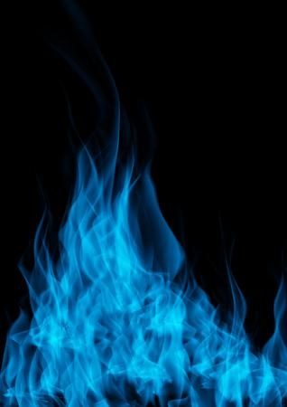 Gas flame of burning fire over black background Foto de archivo - 121707329