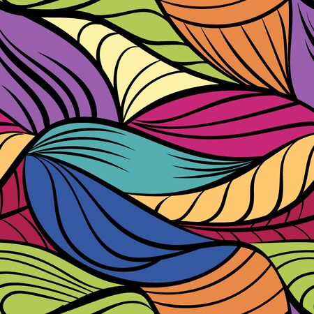 Abstract tangled leaves seamless pattern.