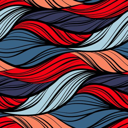 Abstract sea waves seamless pattern.