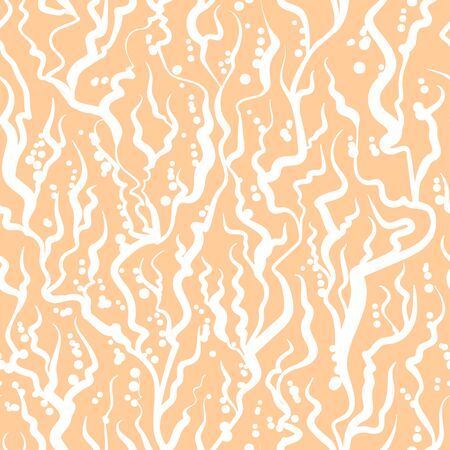 Abstract tangled sea waves seamless pattern.
