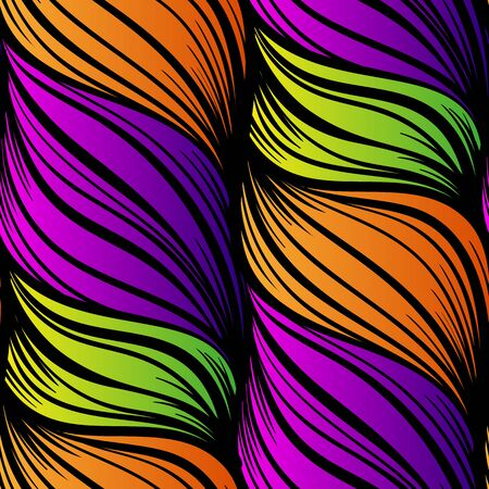 Abstract sea waves seamless pattern. 스톡 콘텐츠 - 133387334