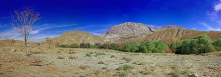 Panoramic wide angle view landscape of mountains in Turkmenistan, Central Asia. 스톡 콘텐츠 - 133509593