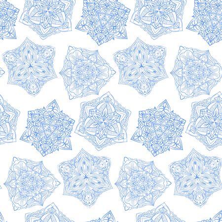 Snowflakes seamless background. Snow flakes silhouette. New year ornament.