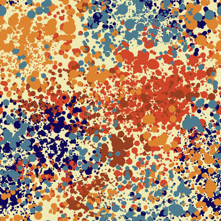 Abstract colorful background with splashes. Textured grunge seamless pattern