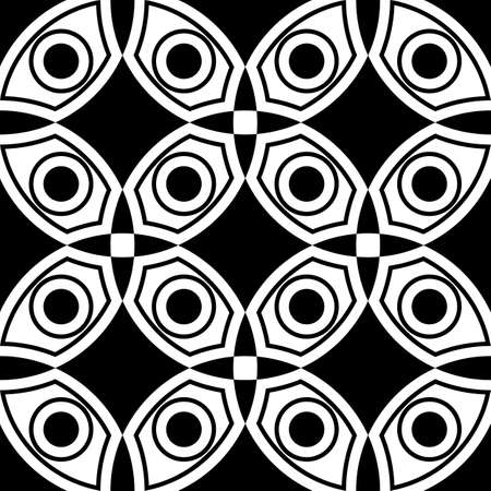 Abstract vector seamless pop art pattern. Pop art, graphic ornament. Optical illusion.