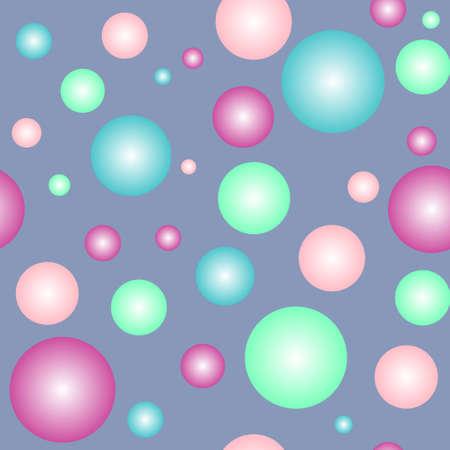 alight: Sfere colorate scendere seamless pattern illustrazione vettoriale Vettoriali