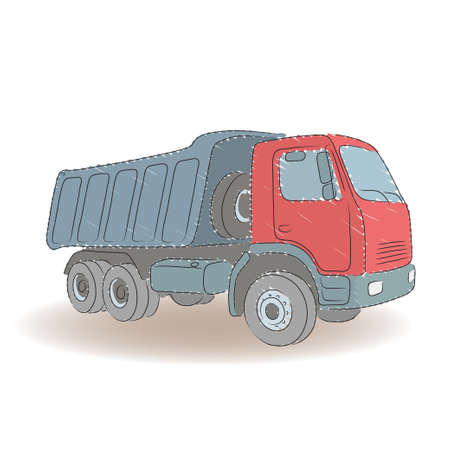 tipper: Isolated colored tipper on the white background