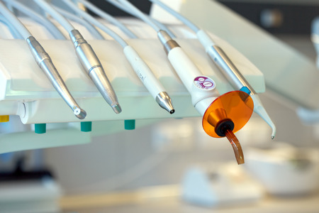 x ray machine: Close up of dental tools