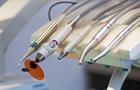 Close up of dental tools photo