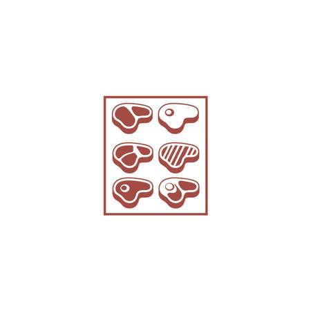 Steak Icons Set Vector Design Stock fotó - 142450279