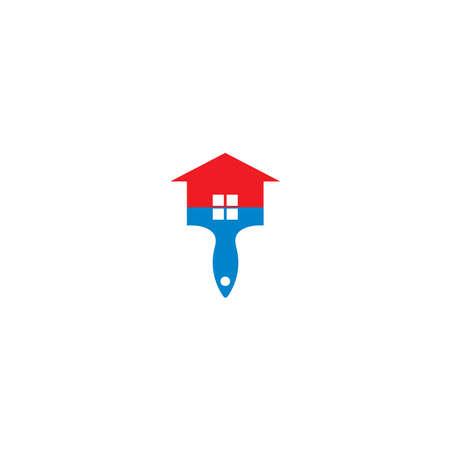 House paint logo icon illustration