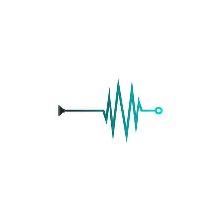 Sound wave icon logo design vector illustration