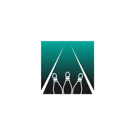 Bowling icon logo vector illustration