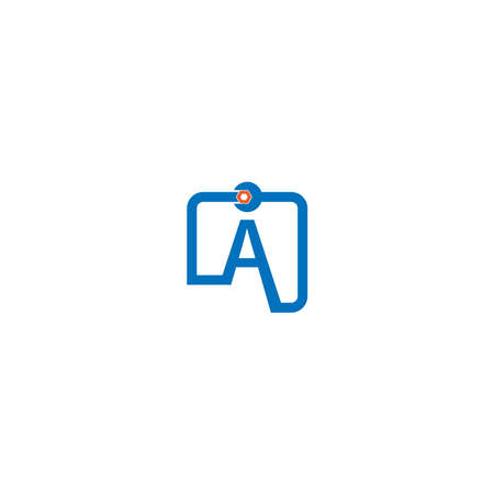 Letter A  logo icon forming a wrench and bolt design concept