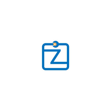 Letter Z  logo icon forming a wrench and bolt design concept Ilustrace