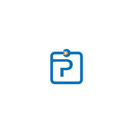 Letter P  logo icon forming a wrench and bolt design concept 向量圖像