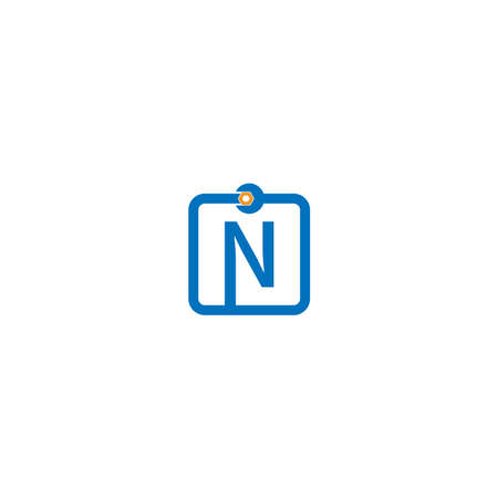 Letter N  logo icon forming a wrench and bolt design concept