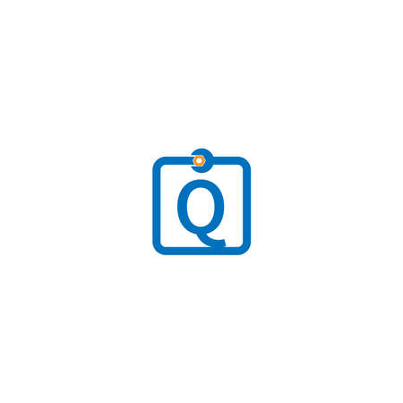 Letter Q  logo icon forming a wrench and bolt design concept