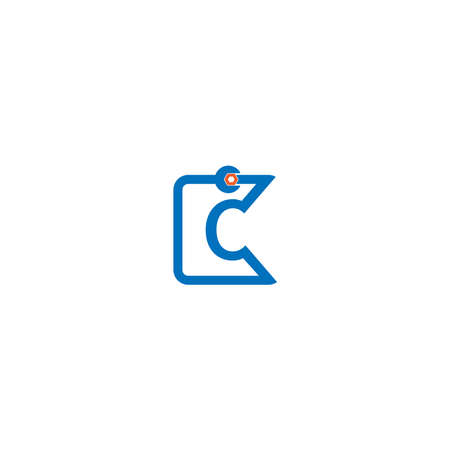 Letter C  logo icon forming a wrench and bolt design concept