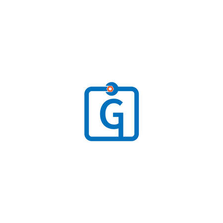 Letter G  logo icon forming a wrench and bolt design concept
