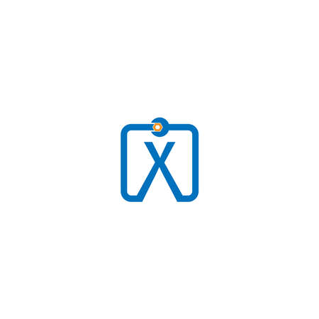 Letter X  logo icon forming a wrench and bolt design concept 向量圖像
