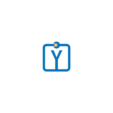Letter Y  logo icon forming a wrench and bolt design concept