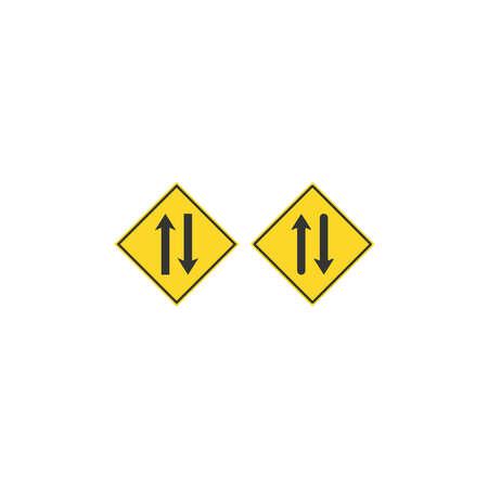 Traffic signal signs icon design template Illustration
