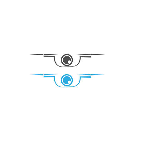 Drone icon logo design vector template