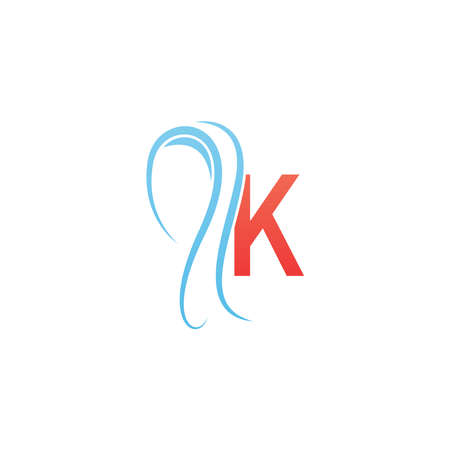 Letter K icon logo combined with hijab icon design template