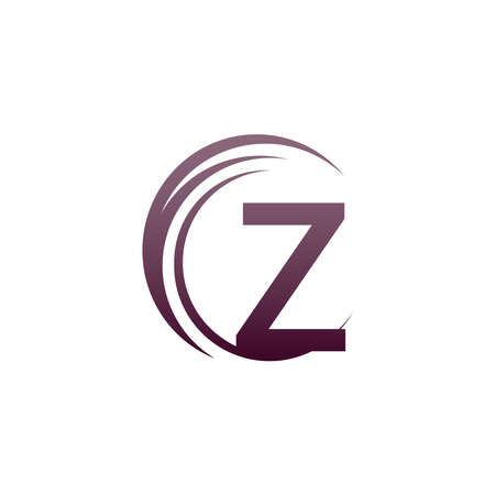 Wave circle letter Z logo icon design illustration