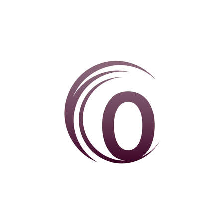Wave circle letter O logo icon design illustration