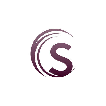 Wave circle letter S logo icon design illustration