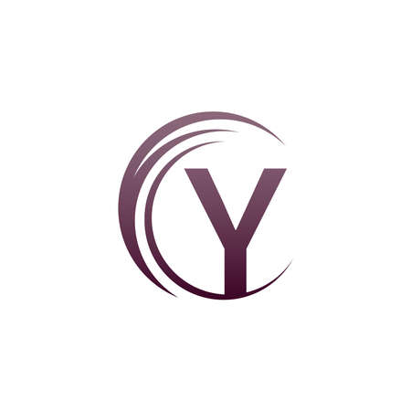 Wave circle letter Y logo icon design illustration