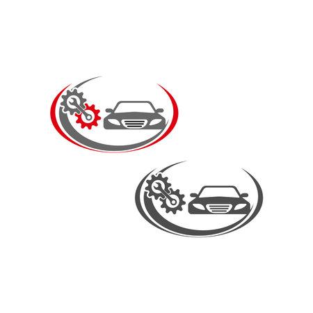 Auto car illustration logo vector template