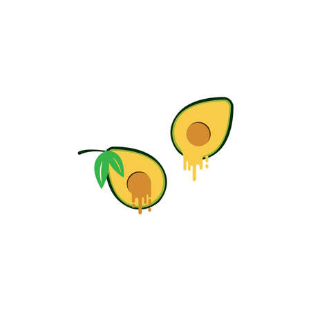 Avocado icon   illustration design vector template