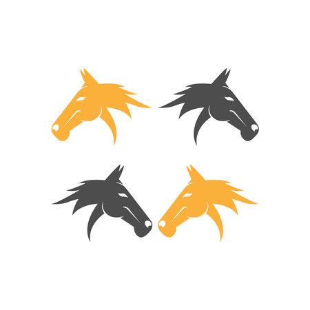Horse logo icon design template vector illustration Logo