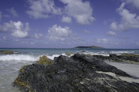 caribbean coastline Stock Photo