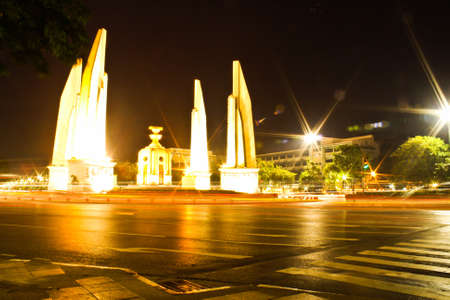 Democracy Monument at night photo