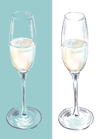 champagne flute: Champagne flute Illustration
