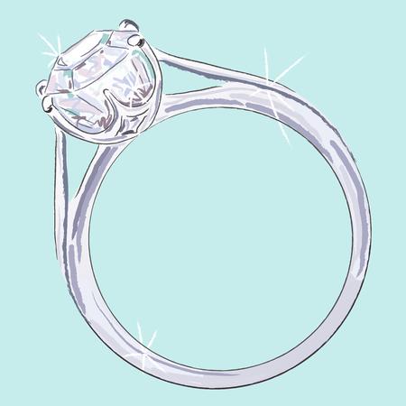 dimond: Engagement ring Illustration