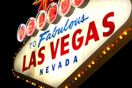 welcome sign: Las Vegas signe bienvenu