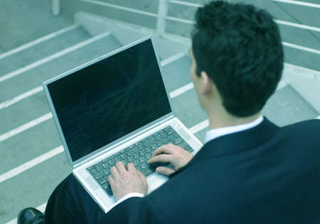 business man on his laptop Stock Photo