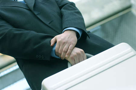 business man with briefcase Stock Photo